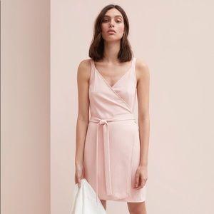 Everlane Pink Wrap Dres, Size 4